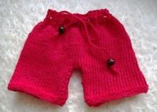 miniature red trousers for tedz
